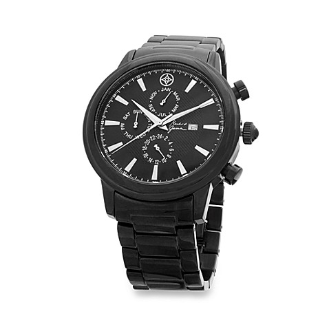 Mark & James by Badgley Mischka Stainless Steel Black Ionic Plating Watch