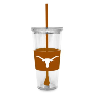 Double Wall 22-Ounce Tumbler with Lid & Straw - University of Texas