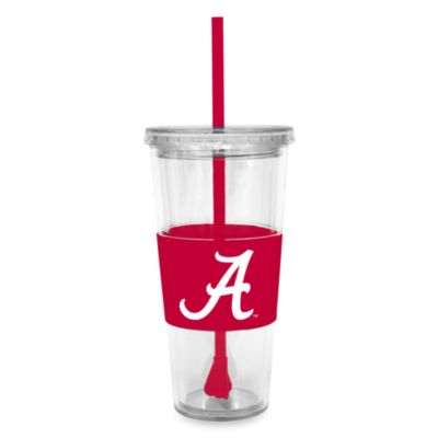 Double Wall 22-Ounce Tumbler with Lid & Straw - University of Alabama