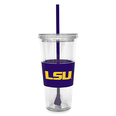 Double Wall 22-Ounce Tumbler with Lid & Straw - Louisiana State University