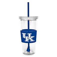 Double Wall 22-Ounce Tumbler with Lid & Straw - University of Kentucky