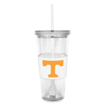 Double Wall 22-Ounce Tumbler with Lid & Straw - University of Tennessee