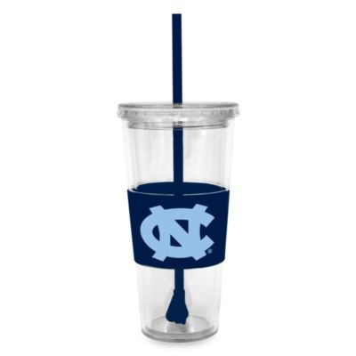 Double Wall 22-Ounce Tumbler with Lid & Straw - University of North Carolina