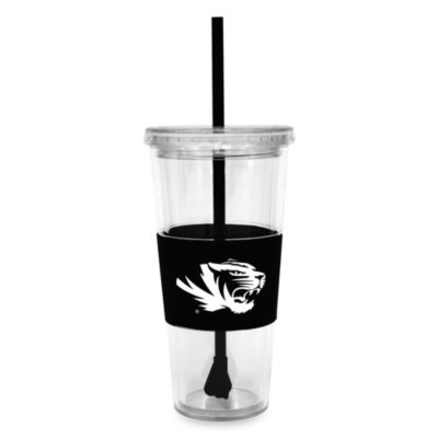 Double Wall 22-Ounce Tumbler with Lid & Straw - University of Missouri