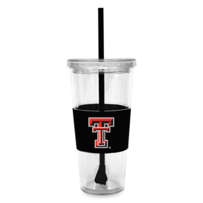 Double Wall 22-Ounce Tumbler with Lid & Straw - Texas Tech University
