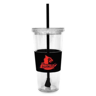 Double Wall 22-Ounce Tumbler with Lid & Straw - University of Louisville