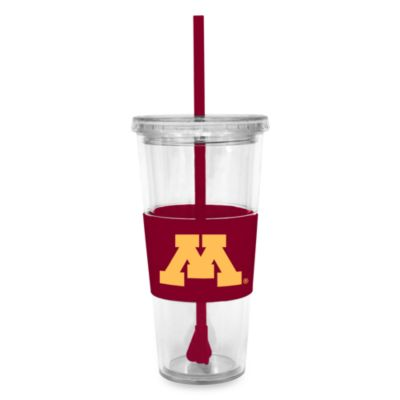 Double Wall 22-Ounce Tumbler with Lid & Straw - University of Minnesota
