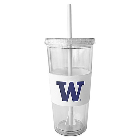 Double Wall 22-Ounce Tumbler with Lid & Straw - University of Washington