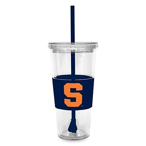 Double Wall 22-Ounce Tumbler with Lid & Straw - Syracuse University