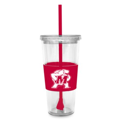 Double Wall 22-Ounce Tumbler with Lid & Straw - University of Maryland