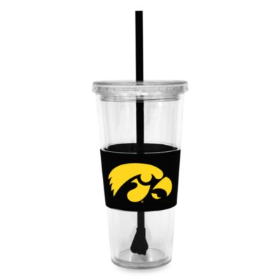 Double Wall 22-Ounce Tumbler with Lid & Straw - Iowa University
