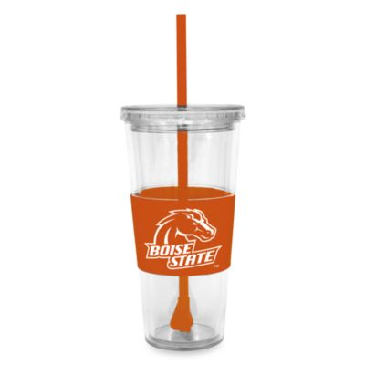 Double Wall 22-Ounce Tumbler with Lid & Straw - Boise State University