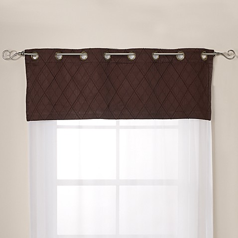 Crosstown Valance in Chocolate