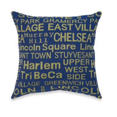 Neighborhood Soho Throw Pillow