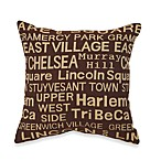 Neighborhood Brownstone Toss Pillow