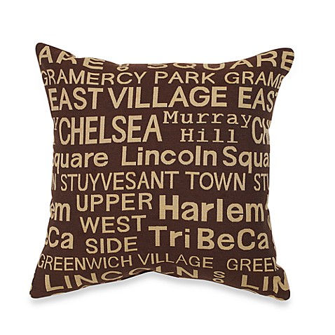 Neighborhood Brownstone Throw Pillow