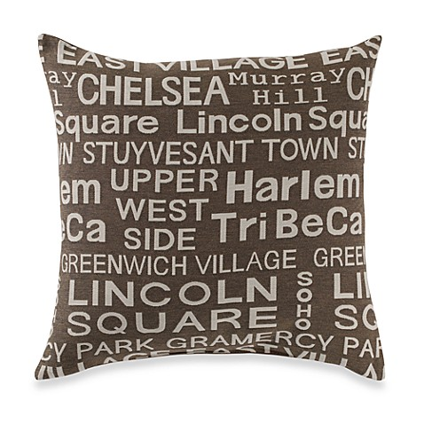Neighborhood Dusk Throw Pillow