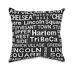 Neighborhood Sidewalk Toss Pillow