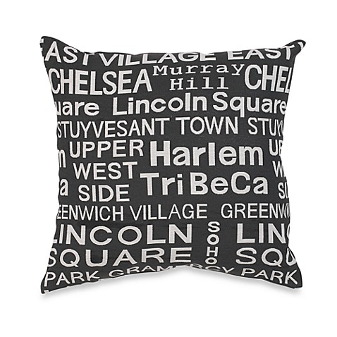 Neighborhood Sidewalk Throw Pillow