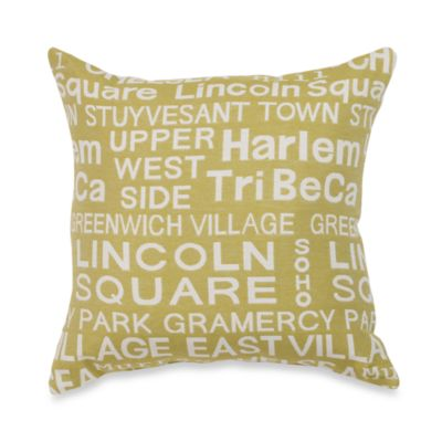 Neighborhood Park Toss Pillow