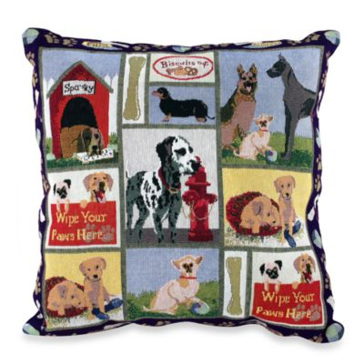 "Park B. Smith® Dog Days 18"" x 18"" Tapestry Decorative Pillow"
