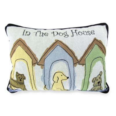PB Paws Pet Collection Dog Houses Tapestry Decorative Pillows (Set of 2)