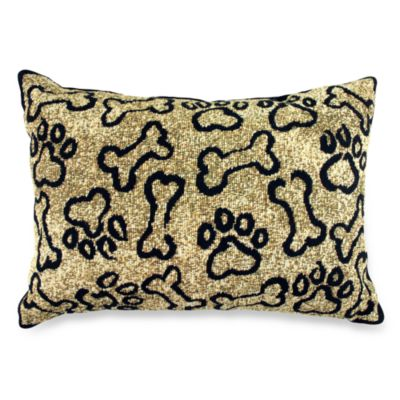 PB Paws Pet Collection Puppy Paws Gold Tapestry Decorative Pillows (Set of 2)