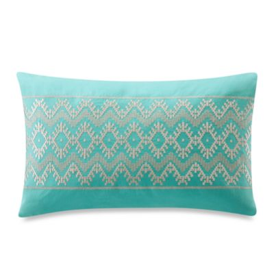 Echo Design™ Mykonos Oblong Teal Toss Pillow