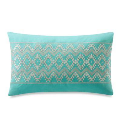 Echo Design Throw Pillows : Buy Echo Design Mykonos Oblong Teal Throw Pillow from Bed Bath & Beyond