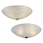 ELK Lighting Fusion 2-Light Semi Flush Mounted Ceiling Lamps (Satin Nickel)