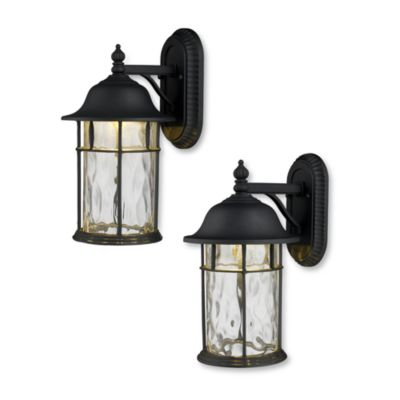 ELK Lapuente Outdoor LED Sconces in Matte Black