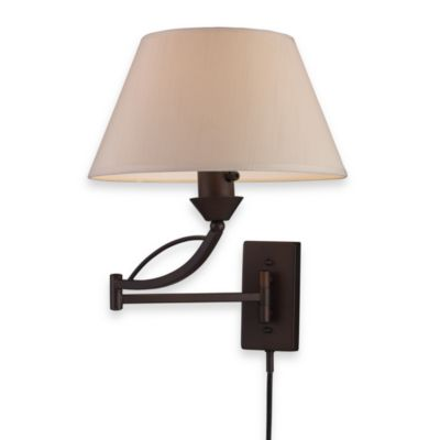 ELK Lighting Elysburg 1-Light Swing Arm Sconce in Aged Bronze