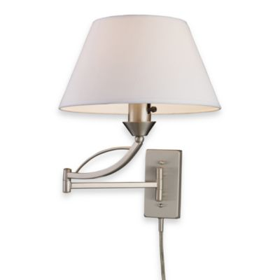 ELK Lighting Elysburg 1-Light Swing Arm Sconce Satin Nickel