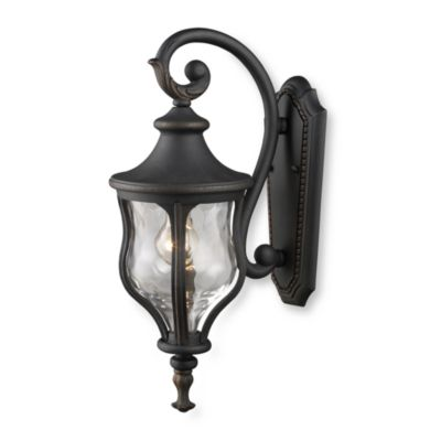 ELK Lighting Grand Aisle 1-Light Mini Outdoor Sconce in Weathered Charcoal