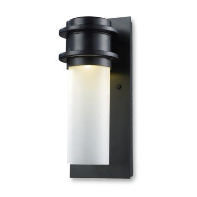 ELK Lighting Freeport 1-Light Outdoor LED Sconce in Matte Black