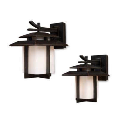 ELK Lighting Kanso 1-Light Outdoor Sconces in Hazelnut Bronze