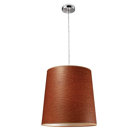 ELK Lighting Couture 1-Light Pendant (Polished Chrome) in Brown