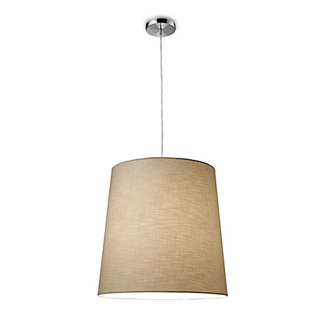 ELK Lighting Couture 1-Light Pendant (Polished Chrome) in Tan