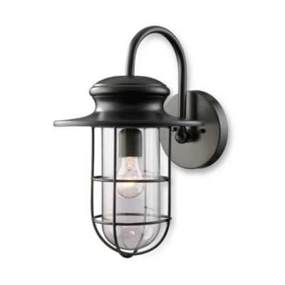 ELK Lighting Portside Matte Black 1-Light Large Outdoor Sconce