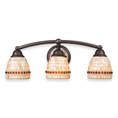 ELK Lighting Roxana 3-Light Bath Bar in Aged Bronze