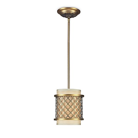 ELK Lighting Chester 1-Light Pendant in Brushed Antique Brass