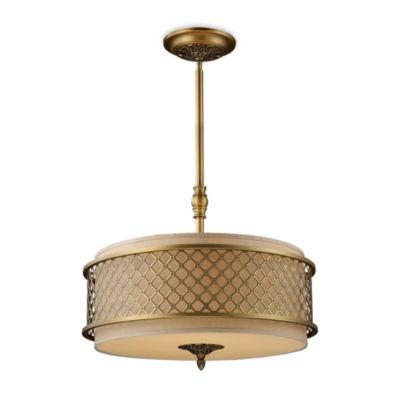 ELK Lighting Chester 4-Light Pendant in Brushed Antique Brass