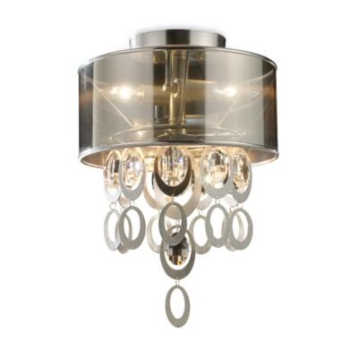 ELK Lighting Parisienne 2-Light Semi-Flush Mount in Silver Leaf