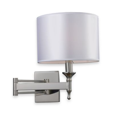 ELK Lighting Pembroke 1-Light Swing-Arm Sconce in Polished Nickel