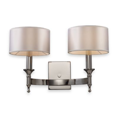 ELK Lighting Pembroke 2-Light Sconce in Polished Nickel