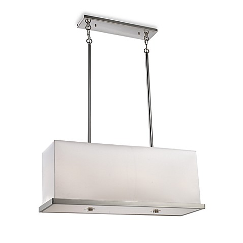 ELK Lighting Pembroke 4-Light Linear Pendant in Polished Nickel