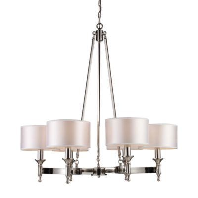 ELK Lighting Pembroke 6-Light 31-Inch Chandelier in Polished Nickel