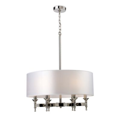ELK Lighting Pembroke 6-Light 30-Inch Chandelier in Polished Nickel