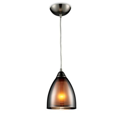 ELK Lighting Reflections 1-Light Pendant in Black Chrome
