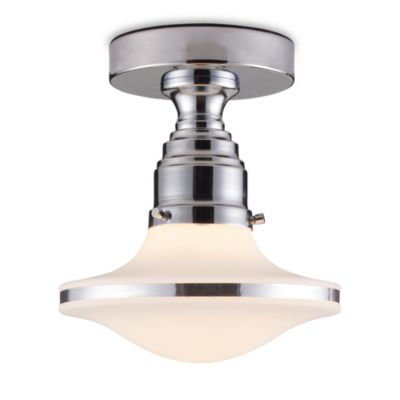 ELK Lighting Retrospectives 1-Light Semi-Flush Mounted Ceiling Lamp in Polished Chrome